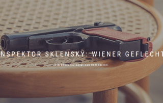 Druckerei Krimi, Inspektor Sklensky Wiener Geflecht, Beitragsbild, c Handler
